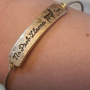 No prob Llama hook bracelet